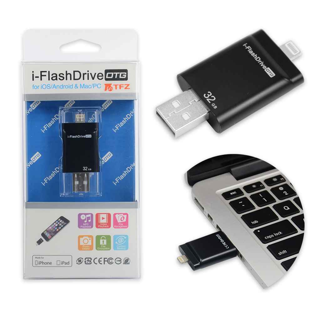 Oem Wholesale Usb 30 Leather Flash Drive Flashdisk Otg Samsung 64gb Usd For Ios 32 Gb Iphone 5 5s6ipad Miniipad